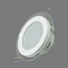 705R-6W-4000K Светильник встраиваемый,круглый,со стеклом,LED,6W