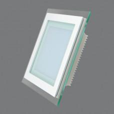 705SQ-12W-3000K Светильник встраиваемый,квадратный,со стеклом,LED,12W